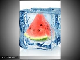 Glas Schilderij Fruit, Keuken | Rood, Grijs, Blauw
