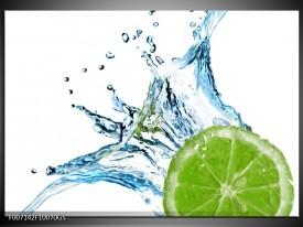 Glas Schilderij Fruit, Keuken | Groen, Blauw, Wit