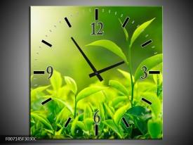 Wandklok Schilderij Natuur | Groen, Geel