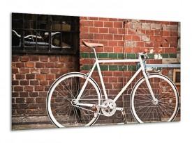 Glasschilderij Fiets | Bruin, Wit | 120x70cm 1Luik