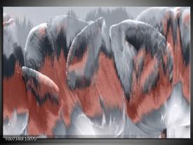 Canvas Schilderij Modern    Grijs