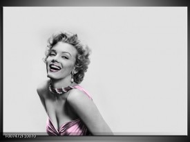 Canvas Schilderij Marilyn Monroe, Muziek | Grijs, Wit, Paars