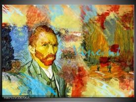 Glas Schilderij Van Gogh, Modern | Oranje, Geel, Bruin