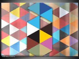 Canvas Schilderij Design   Blauw, Geel