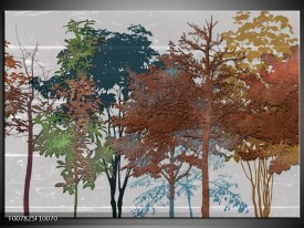Canvas Schilderij Natuur | Grijs, Bruin
