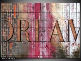 Canvas Schilderij Landelijk, Dream | Grijs, Roze
