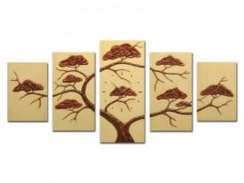 Wandklok gips reliëf | boom bonsai| 134x60x4cm