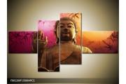 OP VOORRAAD Foto canvas schilderij Boeddha | Kleur: Paars, Bruin, Wit | F003260