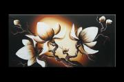 OP VOORRAAD Acrylverf schilderijen | Magnolia | 100x50cm  | BB00495