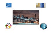 Canvas Schilderij Parijs, Eiffeltoren | Zwart, Wit, Blauw | 120x90cm 1Luik
