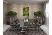 Glas schilderij Bos, Boom | Groen | 70x100cm 1Luik