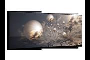 Glas schilderij Ballen   Grijs, Wit, Zwart   120x50cm 1Luik
