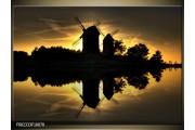 OP VOORRAAD Foto canvas schilderij Molen | 100x70cm | F002333