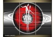 OP VOORRAAD Foto canvas schilderij Modern   Kleur: Grijs, Rood, Zwart   F004889