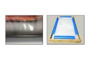 GLAS SCHILDERIJ ABSTRACT | ROOD, WIT, GRIJS | 70x50cm 1Luik F000088GS