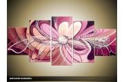 Acryl Schilderij Modern | Paars | 150x70cm 5Luik Handgeschilderd