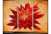 Acryl Schilderij Natuur | Rood, Oranje | 120x80cm 3Luik Handgeschilderd