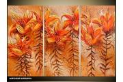 Acryl Schilderij Natuur | Oranje, Bruin | 120x80cm 3Luik Handgeschilderd