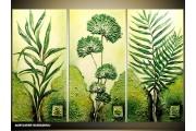 Acryl Schilderij Natuur | Groen | 90x70cm 3Luik Handgeschilderd