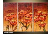 Acryl Schilderij Natuur | Bruin | 120x80cm 3Luik Handgeschilderd