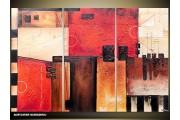 Acryl Schilderij Modern | Rood, Crème | 120x80cm 3Luik Handgeschilderd