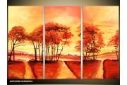 Acryl Schilderij Natuur | Bruin, Geel, Oranje | 120x80cm 3Luik Handgeschilderd