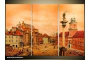 Acryl Schilderij Gebouw | Bruin | 120x80cm 3Luik Handgeschilderd