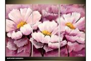 Acryl Schilderij Natuur | Paars | 120x80cm 3Luik Handgeschilderd