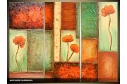 Acryl Schilderij Modern | Groen, Bruin | 120x80cm 3Luik Handgeschilderd