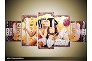 Acryl Schilderij Egypte | Bruin, Crème, Geel | 150x70cm 5Luik Handgeschilderd