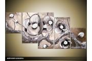 Acryl Schilderij Modern | Grijs | 150x70cm 5Luik Handgeschilderd