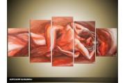 Acryl Schilderij Kunst, Sexy | Rood, Bruin | 150x70cm 5Luik Handgeschilderd