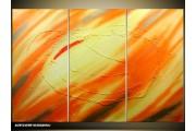 Acryl Schilderij Modern | Oranje, Geel | 120x80cm 3Luik Handgeschilderd