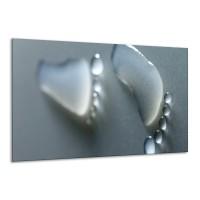 Glas schilderij Abstract | Grijs, Wit | 120x70cm 1Luik