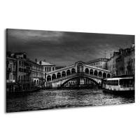 Canvas schilderij Venetie | Grijs, Zwart, Wit | 190x100cm 1Luik