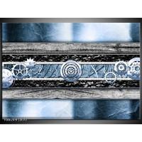 Foto canvas schilderij Modern | Blauw, Grijs