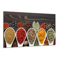 Canvas Schilderij Kruiden, Keuken | Bruin, Rood, Geel | 120x70cm 1Luik