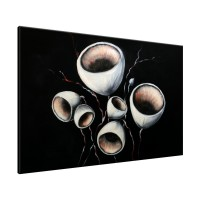 Schilderij handgeschilderd Modern | Zwart , Wit | 120x70cm 1Luik