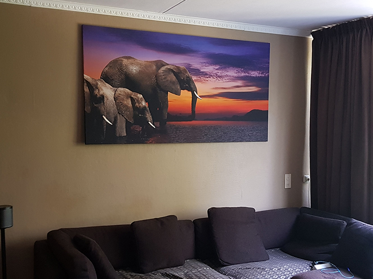 Canvas schilderij olifant 190x100 GroepArt