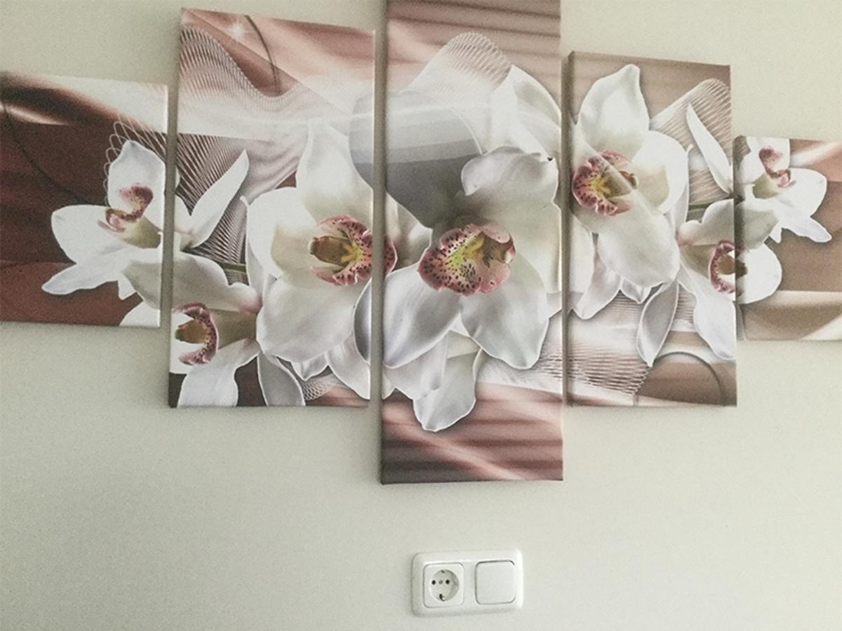 Canvas schilderij 5 luik bloemen GroepArt