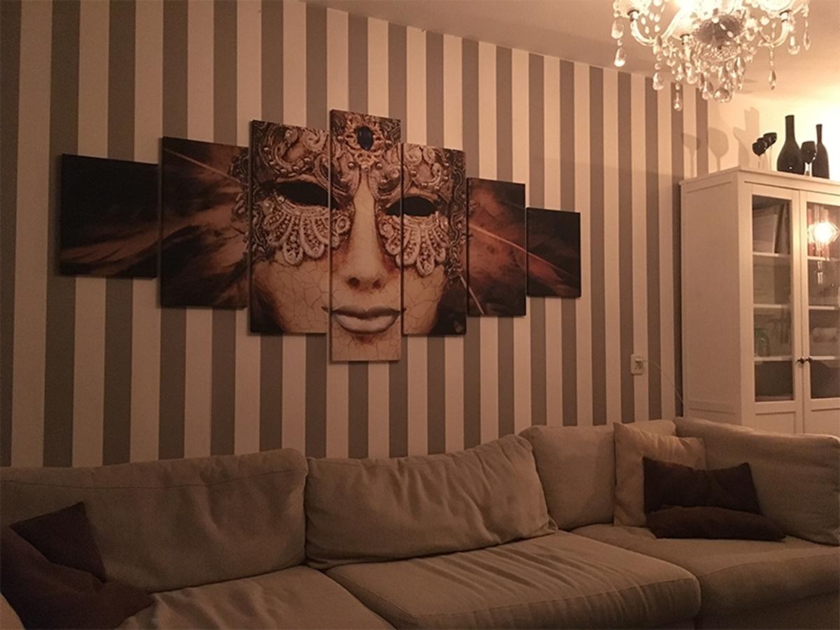 Canvas schilderij masker 7 luik GroepArt