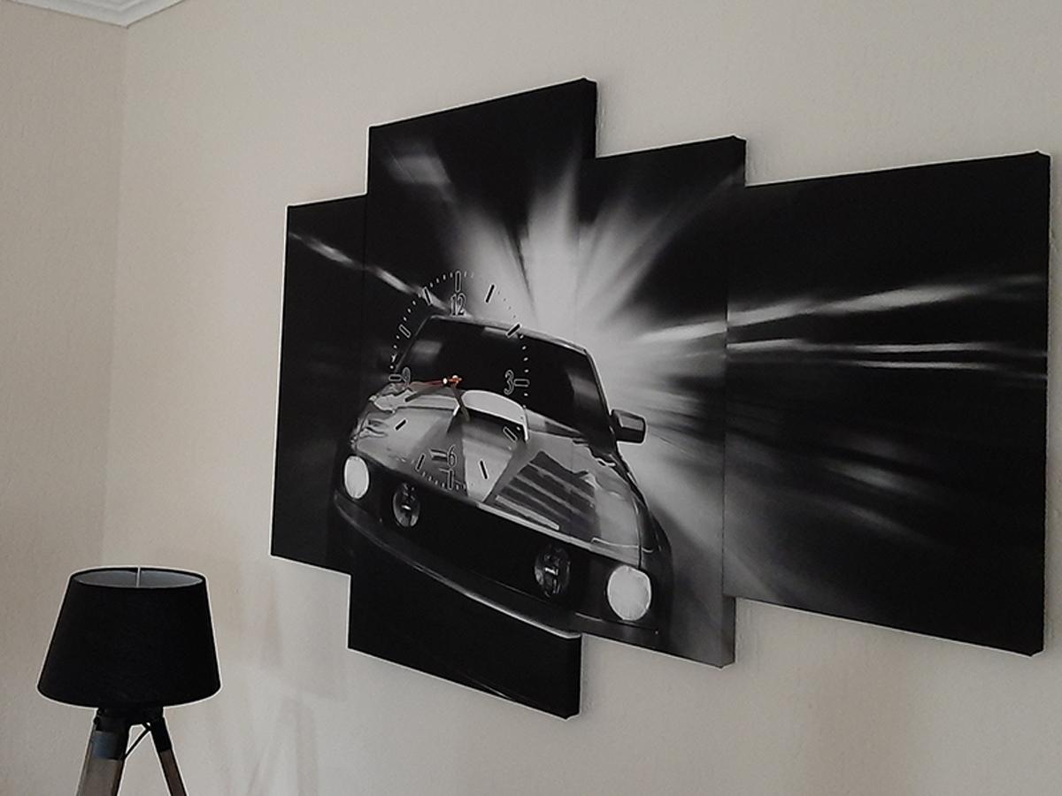Canvas schilderij 4 luik auto GroepArt