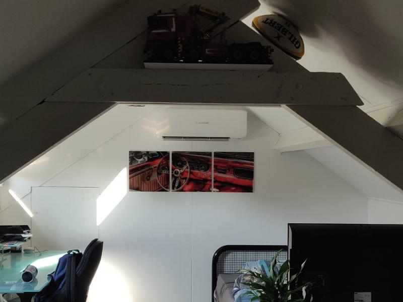 Glasschilderij ford mustang 3 luik GroepArt