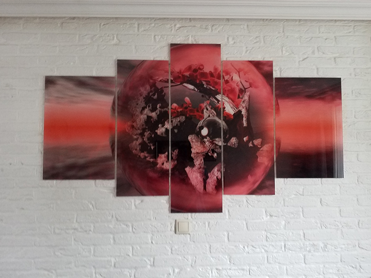 Glasschilderij 5 luik GroepArt