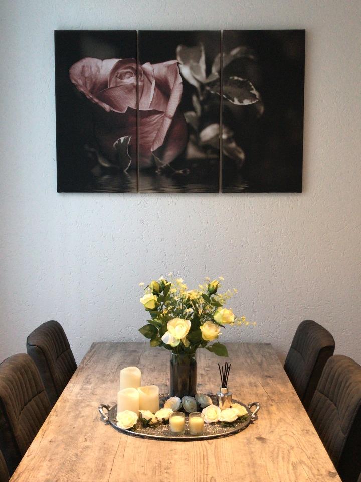 Canvas schilderij 3 luik bloemen GroepArt
