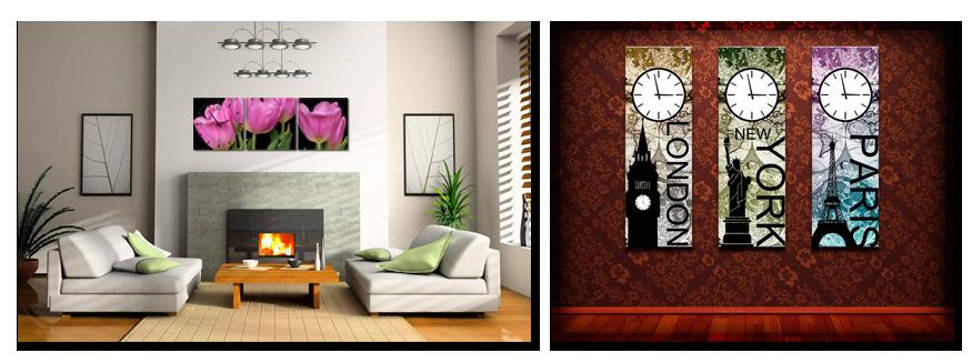 wandklokken op canvas